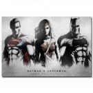 Batman VS Superman Movie Art Fabric Poster Print Wonder Woman 32x24