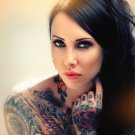 Tattoos Pin Up Cute Girl Blue Eyes Print POSTER 32x24