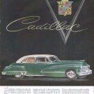 Vintage Green Cadillac Car Ad Art Print 32x24