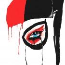 Harley Quinn Face Fan Art Print POSTER 32x24
