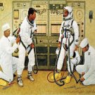 Norman Rockwell Grissom And Young Fine Art Print 32x24
