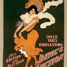 Vintage Devils Auction Poster Art Print 32x24
