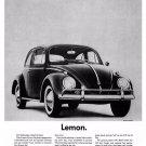 Vintage Volkswagen Bug Car Ad Art Print 32x24