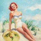Howard Connolly PIN UP Girl Art Print 32x24