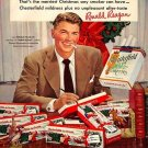 Vintage Ronald Reagan Chesterfield Cigarette Smoking Ad Art Print 32x24