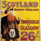 Vintage Scotland Midland Rail Poster Print 32x24