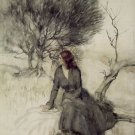 Arthur Rackham Girl Beside A Stream Fine Art Print 32x24