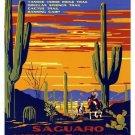 Vintage Saguaro National Monument Wpa Poster Art Print 32x24