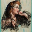 Bradshaw Crandell PIN UP Girl Art Print 32x24