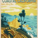 Vintage Coastal California Travel Wpa Poster Art Print 32x24