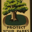 Protect Your Parks Wpa Poster Art Print 32x24