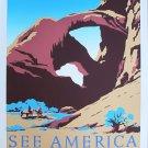 Vintage See America Travel Wpa Poster Art Print 32x24