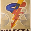 Vintage French Dilecta Cycles Poster Print 32x24