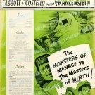 Abbott And Costello Meet Frankenstein 1948 Vintage Movie Poster Reprint 13