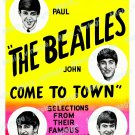 The Beatles Come To Town 1963 Vintage Movie Poster Reprint 3