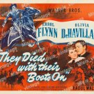 They Died With Their Boots On 1941 Vintage Movie Poster Reprint 9