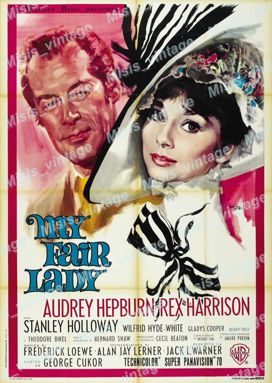 My Fair Lady 1964 Vintage Movie Poster Reprint 4