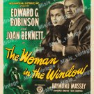 The Woman In The Window 1945 Vintage Movie Poster Reprint 2