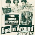 The Three Stooges In Fuelin Around 1949 Vintage Movie Poster Reprint