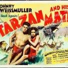 Tarzan And His Mate 1934 Vintage Movie Poster Reprint 9