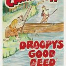 Droopy S Good Deed 1951 Vintage Movie Poster Reprint