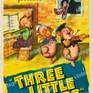 The Three Little Pigs 1947 Vintage Movie Poster Reprint 2