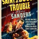 The Saint S Double Trouble 1940 Vintage Movie Poster Reprint