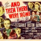 And Then There Were None 1945 Vintage Movie Poster Reprint 2