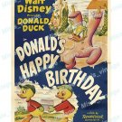 Donald S Happy Birthday 1949 Vintage Movie Poster Reprint 2