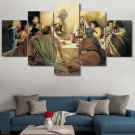 Large Framed Jesus Disciples Last Supper Canvas Print Wall Art Home Decor