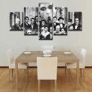 Large Framed Gangsters Scarface Canvas Print Home Decor Wall Art Five Piece