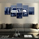 Large Framed Seattle Seahawks Football Print Home Decor Wall Art