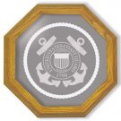"13"" Coast Guard Emblem Etched Wall Mirror"