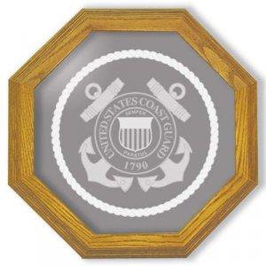 """13"""" Coast Guard Emblem Etched Wall Mirror"""