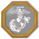"20"" United States Marines Emblem Etched Wall Mirror"