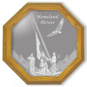 """28"""" Homeland Heroes Etched Wall Mirror"""