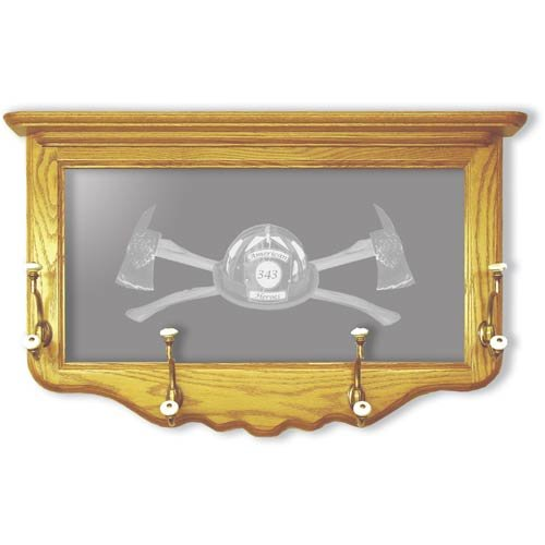 """18""""x30"""" Axe 343 Coat Rack and Etched Mirror"""