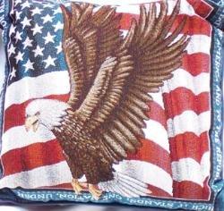 "18""x18"" Pledge of Allegiance Throw Pillow"