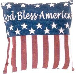 "18""x18"" God Bless America Throw Pillow"