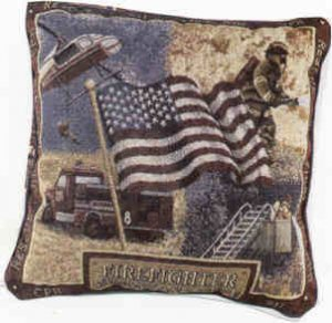 """18""""x18"""" Valliant and Brave Pillow"""