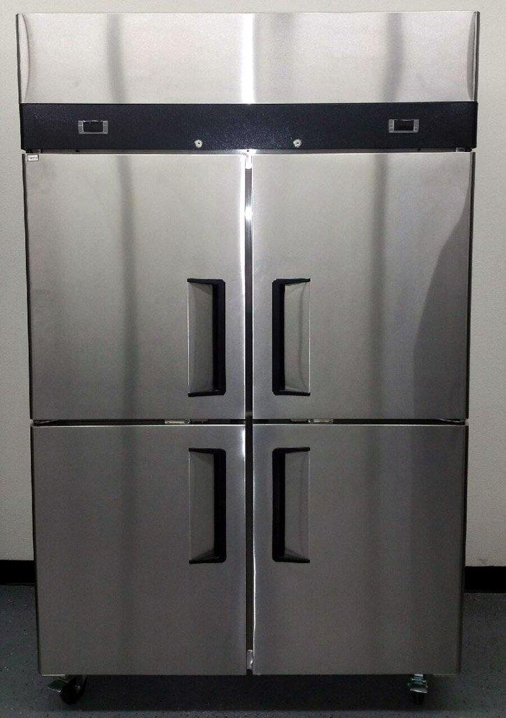 "48"" 4 Door Stainless Steel Commercial Combo Refrigerator/Freezer, 30.2 Cubic Feet - YBL9342"