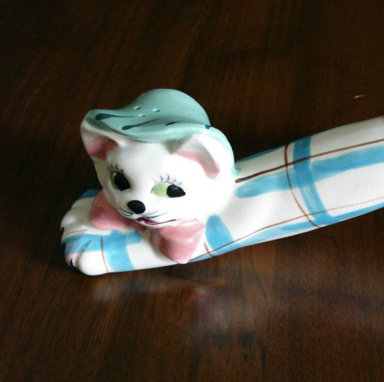 Stretch limo cat salt shaker ESD made in Japan vintage cm1005