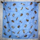 Kittens on baby blue cotton scarf bandana kerchief cm1013