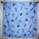 Kittens on baby blue cotton scarf bandana kerchief cm1013