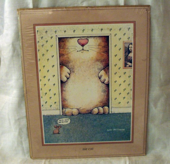 Gary Patterson Fat Cat caricature print 8x10 vintage cm1268