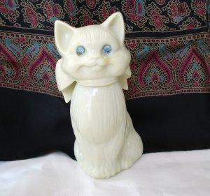 Avon cat bottle empty blue rhinestone eyes Sweet Honesty Cologne vintage cm1328