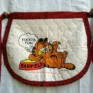 Garfield Food's Fun quilted half apron 1978 unused cm1360