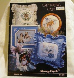 Captivating Cats cross-stitch charts instruction 1989 Stoney Creek Collection cm1379