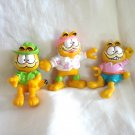 Garfield the cat lot of 3 Happy Meals figures from 1981 cm1417