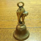 Brass scaredy cat on bell made in England vintage cm1464